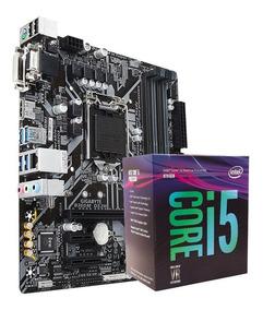 Kit Placa Gigabyte B360m-ds3h + Processador Core I5-8400