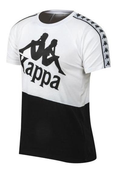 Remera Kappa Banda Baldwin Blanco Negro Hombre