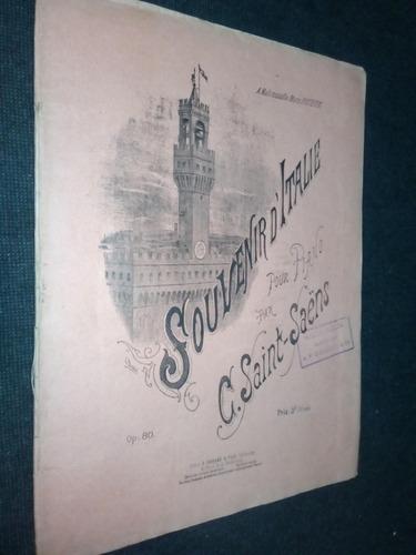 Partitura Souvenir Dítalie Piano Saint Saens