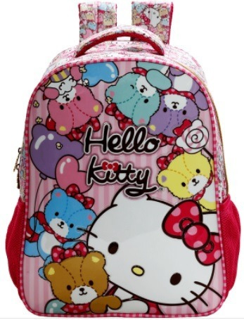Mochila Infantil Escolar 14 Hello Kitty Tiny Bears
