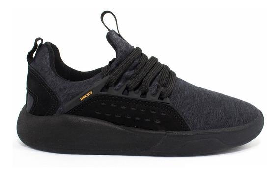 Tênis Hocks Skate Le Parc Preto Black Yellow Masculino E Feminino Sneaker Confortável Original Promoção Envio Imediato