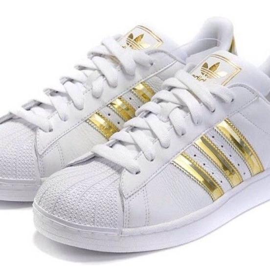Adidas Superstar Puntera Dorada Running - Zapatillas en ...