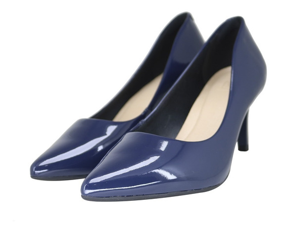 Sapato Feminino Social Scarpin Salto Baixo Fino Firezzi