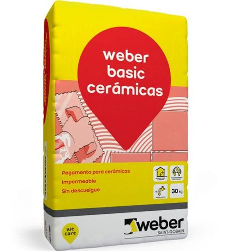 Pegamento Para Cerámica Impermeable Weber Col Basic 25kg G P