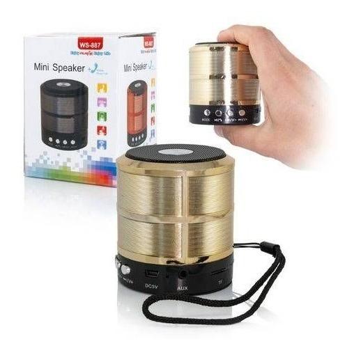 Caixa De Som Bluetooth V3.0 Ws-887 Mini Speaker Global