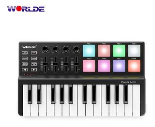 Mini Controlador De Teclado Keyboard Midi Usb Worlde Panda