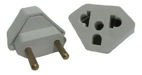 Kit C/5 Adaptador Tomada Triangular, Tê , Pino - 20 Amperes