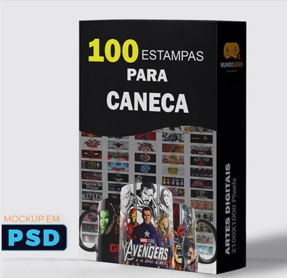 Estampas 100 Artes Para Sublimação Canecas + Bônus