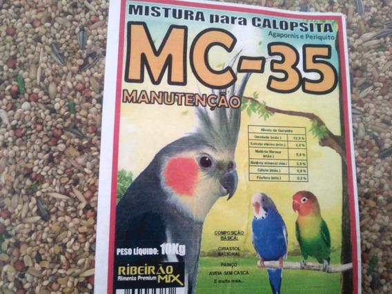 Mistura Para Calopsitas Periquitos Agaporns ,ração, 20 Kg