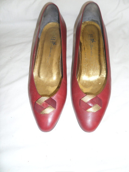 Zapato Dama Color Vino Tinto