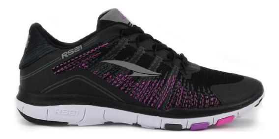 Zapatos Deportivos Para Damas Y Niñas Rs Flex Negro/fucsia