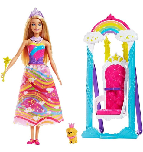 Barbie Trono De Arco Iris Arcoiris Dreamtopia Columpio Honey