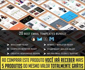 Pacote 20 Modelos De Email Marketing Html E Psd + Brindes