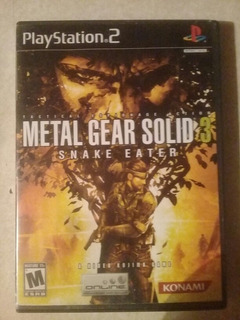 Metal Gear Solid 3 Sneak Eater Ps2