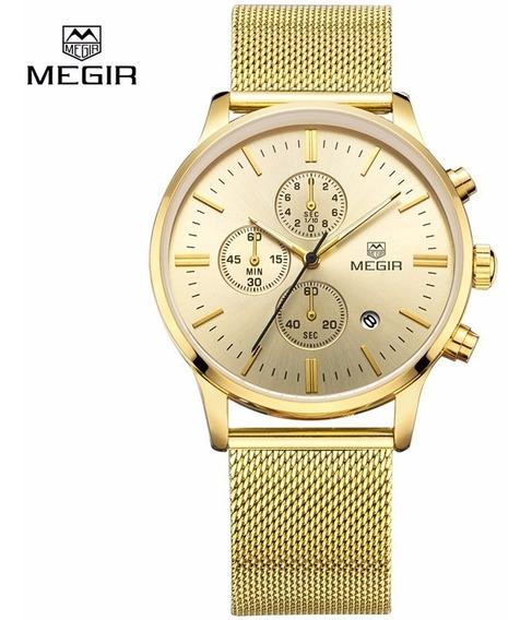Relógio Mergi Esportivo M2011 Dourado (m2011b)