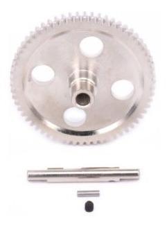 Imagen 1 de 5 de Engranaje Principal De Diff Acero Metal 2pcs 38t Y Motor Piñ