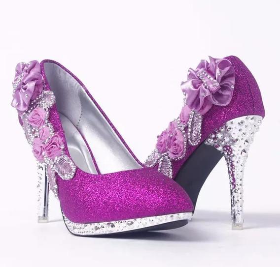 Sapato Feminino Noiva Debutante Rosa Bebê