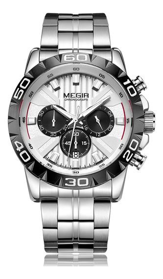 Megir 2087 Homens Relógio De Quartzo Esporte Relógio De Pu
