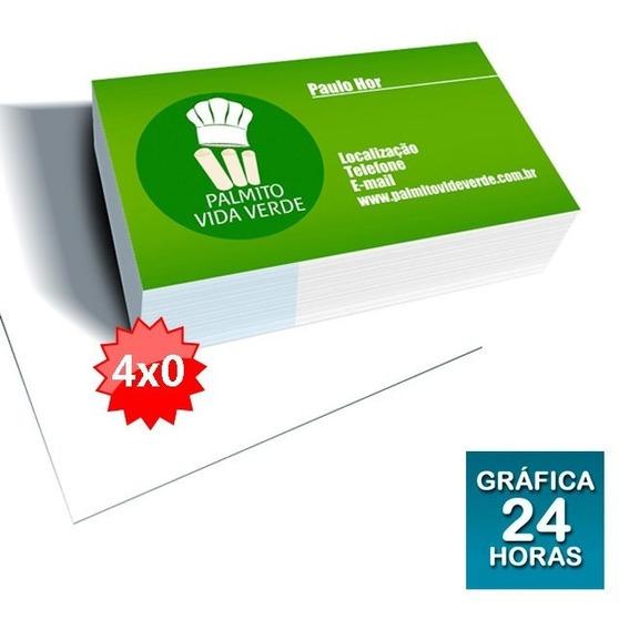 1000 Cartões De Visita Colorido Frente / Verniz Frente