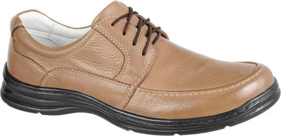 Sapato Masculino Ortopédico Com Cadarço Super Conforto 2712