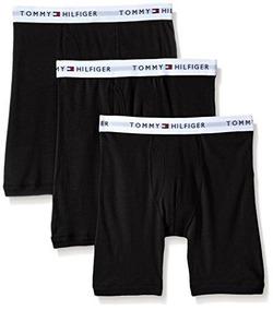 Algodón Pack De 3 Boxer Brief Tommy Hilfiger Hombres, Negro,