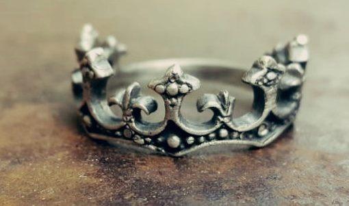 Anel Prata 925 Coroa