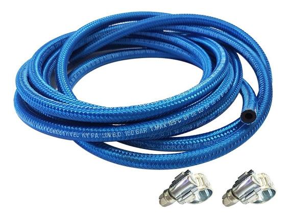 Mangueira De Combustivel 5mm Injeção Eletronica Azul 1,5 Mt