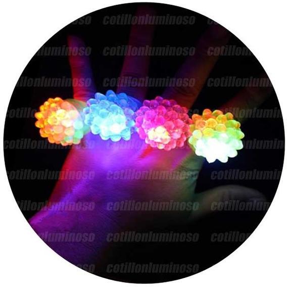 24 Anillos Silicona Luces Ledsurtidos Cotillon Luminoso