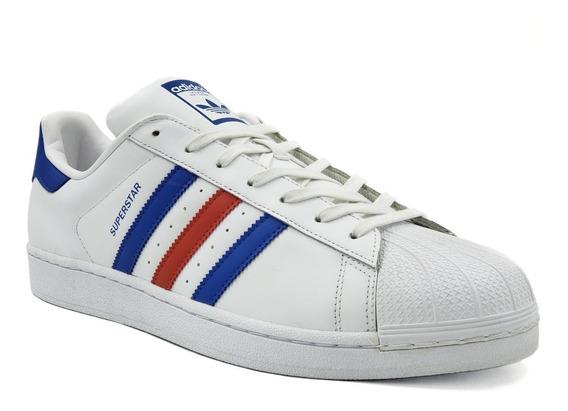 adidas Super Star Blanco/rojo/azul Hombre Originales Bb2246