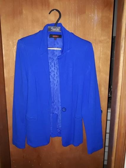 Blazer Azul Nanaminze Tamanho M Impecável