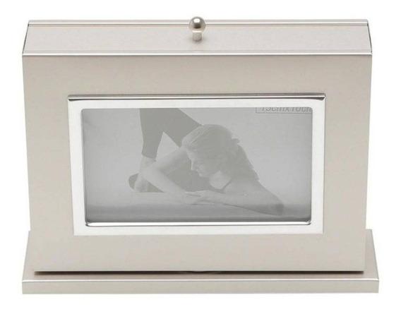 Porta Retrato De Aço Com Álbum 20 Fotos 10cmx15cm Cf