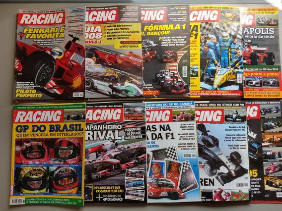 Lote Com 30 Revistas Racing Para Coleção Ou Revender 013