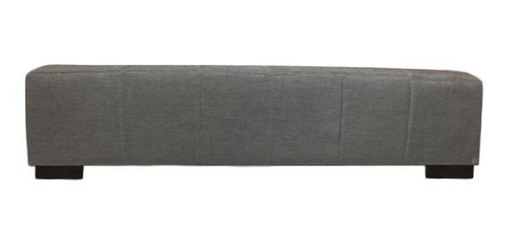 Recamier Solteiro Metalassê Alce Couch Linho Cinza 90cm