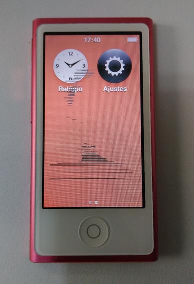 iPod Nano Rosa 16gb 7 Gen Usado (mancha Lcd) - Leia - Rf0gm