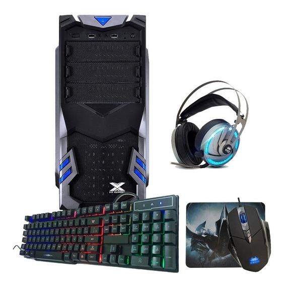 Pc Gamer Quadcore 8gb / Placa Geforce Gt 1030 / 500gb + Kit Gamer