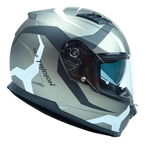 Capacete Givi 50.5 Vortix Titanio/branco Fosco S2r