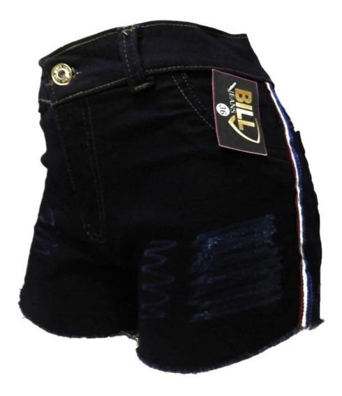 5 Short Jeans Feminino Hot Pant Cintura Alta Com E Sem Lycra