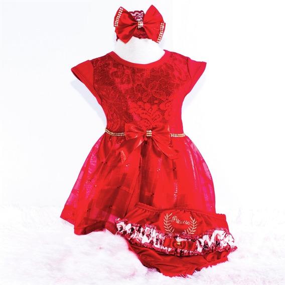 Vestidinho Bebê Menina Kit 3 Peças