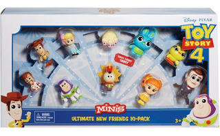 Toy Story 4 - Minis - Pack 10 Muñecos - Original - Mattel