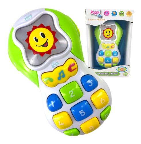 Imagen 1 de 7 de Telefono Celular Didactico Interactivo Infantil Luz Y Sonido
