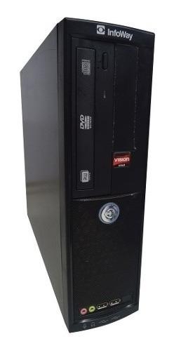 Cpu Corporativo + Monitor 15 Pol, Hd 500gb 8gb Ram +wifi