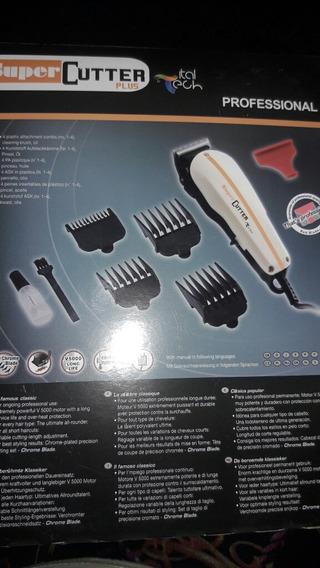 Maquina De Afeitar Super Cutter Importada Barberia Prof45vds