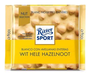Tableta Chocolate Ritter Blanco Con Avellanas X100grs