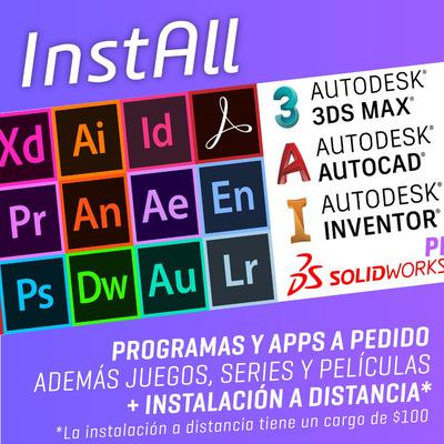Programa A Pedido. Photoshop, Illustrator, Corel, Solidworks