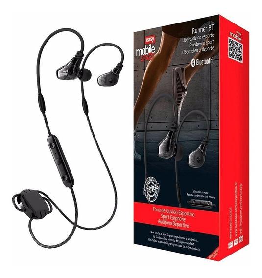 Fone De Ouvido Sem Fio Bluetooth Easy Mobile Runner Bt Preto