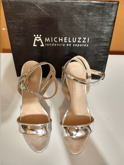 Zapatos Micheluzzi Plateados Nro 36