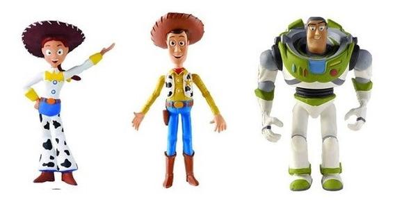 Kit 3 Bonecos Látex Toy Story 3 - Latoy