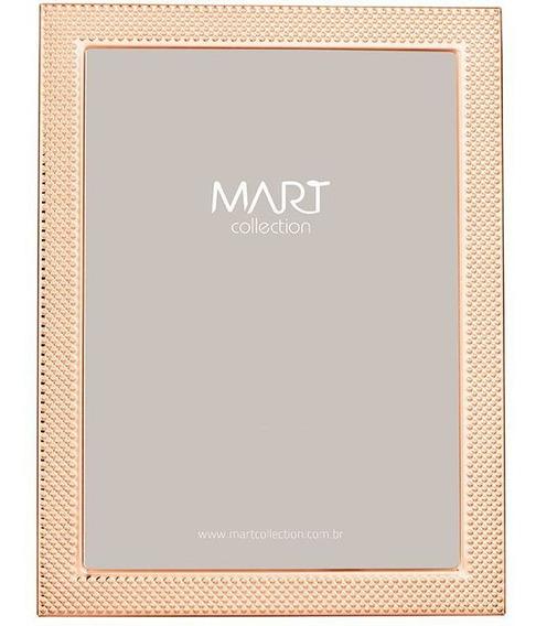 Porta Retrato Rose Gold Em Metal 20x25 Cm 8119 Mart