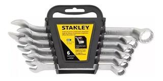 Juego Llaves Combinadas Stanley Milimétricas 6 Pzas Stmt9756