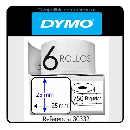 4500 Etiquetas Adhesivas Dymo 450 Ref 30332 Usa 25 X 25 Mm